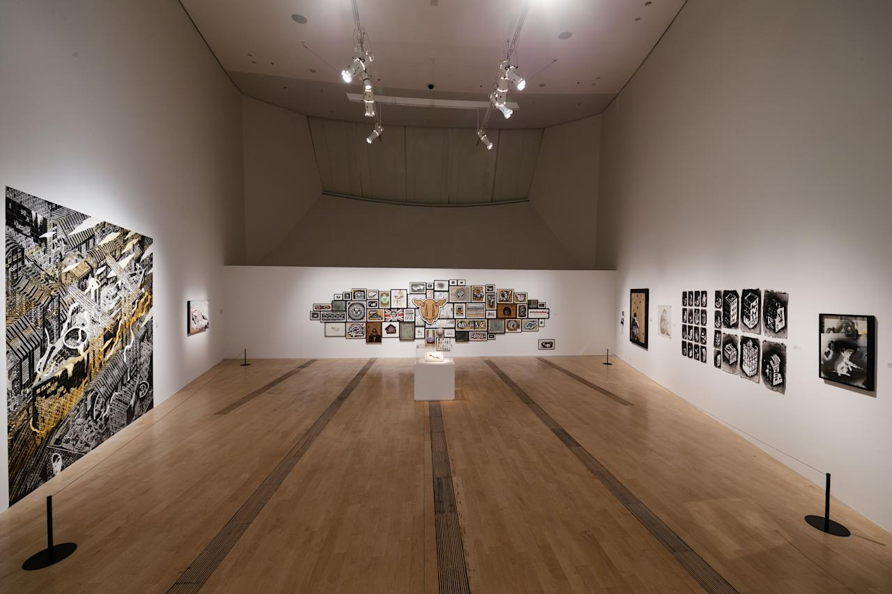 <p>ArtScience Museum's new blockbuster exhibition celebrates 40 years of Street Art showcasing works by renowned artists including Banksy, Shepard Fairey, Futura, Invader as well as Singaporean artists Speak Cryptic and Sheryo & Yok. (Photo: Marina Bay Sands) </p>