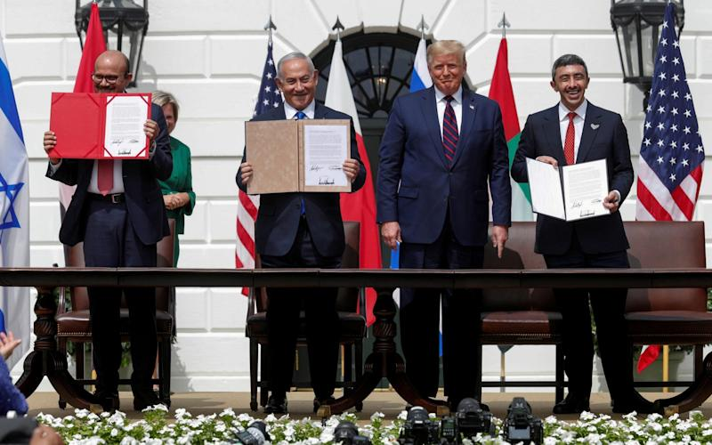US President Trump hosts leaders for the Abraham Accords signing ceremony at the White House in Washington - Tom Brenner/ Reuters