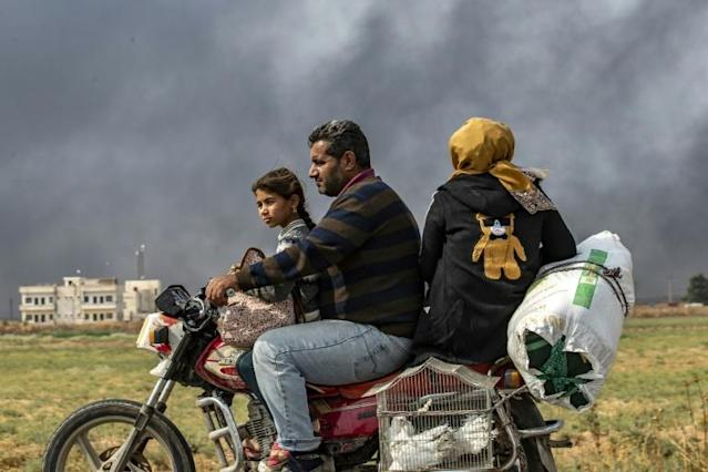 The Turkish offensive has displaced hundreds of thousands from their homes in northern Syria (AFP Photo/Delil SOULEIMAN)