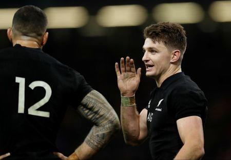 Rugby Union - Autumn Internationals - Wales vs New Zealand - Principality Stadium, Cardiff, Britain - November 25, 2017 New Zealand's Beauden Barrett Action Images via Reuters/Peter Cziborra