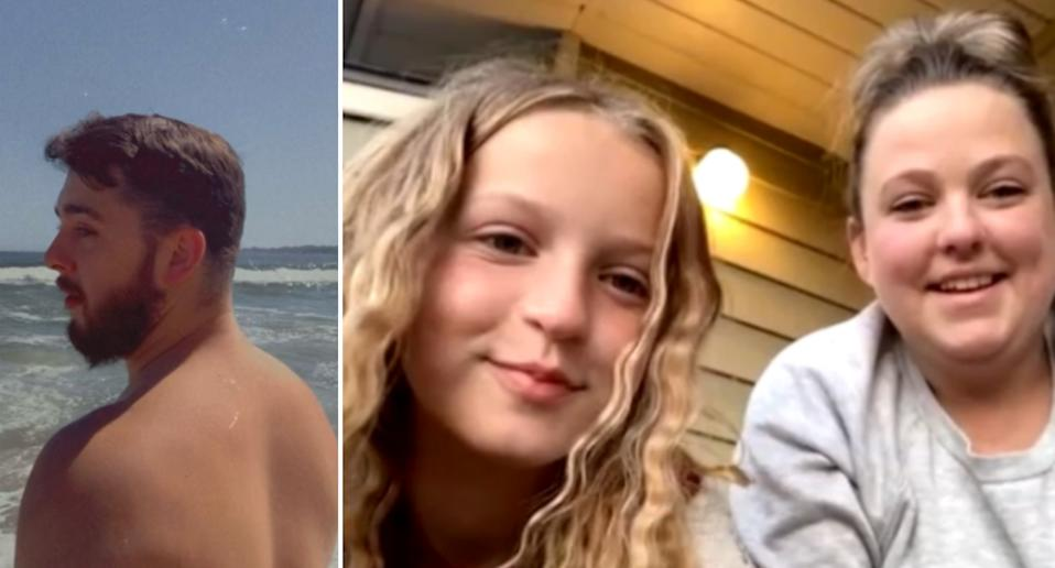 Kevin Cozzi (left) rescued Samantha Whiting and her daughter, Hayley (right) from drowning at a beach.