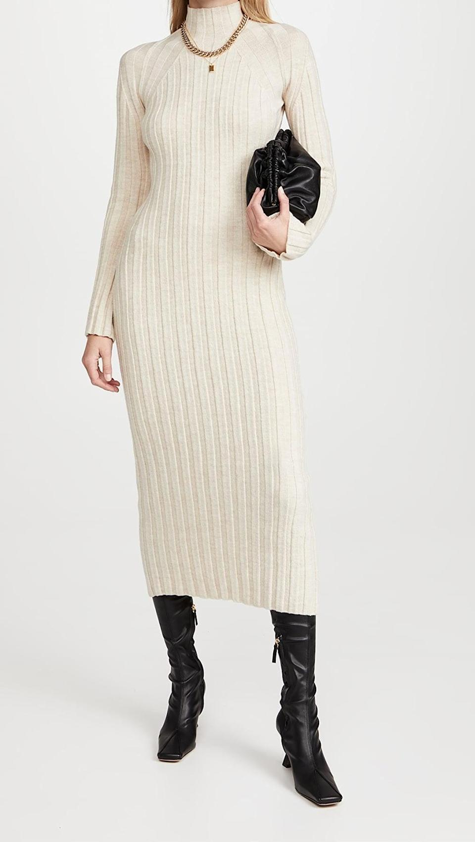 <p>This <span>ANINE BING Shawn Dress</span> ($399) appears simple, but you can accessorize it to be anything but. Just add a chain necklace and some heeled boots for a wow effect. </p>
