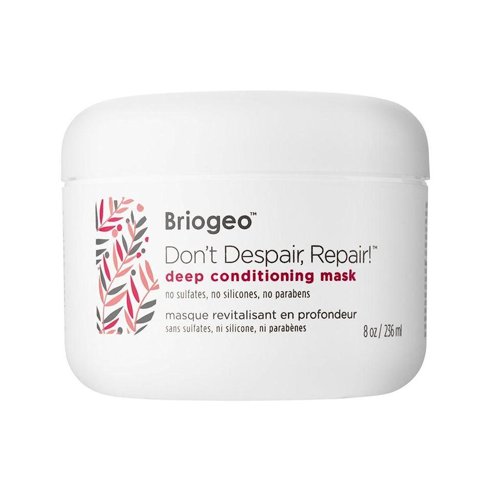 """<p><strong>Briogeo</strong></p><p>dermstore.com</p><p><strong>$28.80</strong></p><p><a href=""""https://go.redirectingat.com?id=74968X1596630&url=https%3A%2F%2Fwww.dermstore.com%2Fproduct_Dont%252BDespair%252BRepair%252BDeep%252BConditioning%252BMask_56505.htm&sref=https%3A%2F%2Fwww.elle.com%2Fbeauty%2Fhair%2Fg36491077%2Fbest-deep-conditioner-for-natural-hair%2F"""" rel=""""nofollow noopener"""" target=""""_blank"""" data-ylk=""""slk:Shop Now"""" class=""""link rapid-noclick-resp"""">Shop Now</a></p><p>If you're looking to give your curls that soft bouncy feel while boosting their strength and shine, this antioxidant deep conditioner is your go-to. The formula is made from 97% naturally derived ingredients including algae extract to enhance the hair's natural moisture and hydrate dry strands. </p>"""