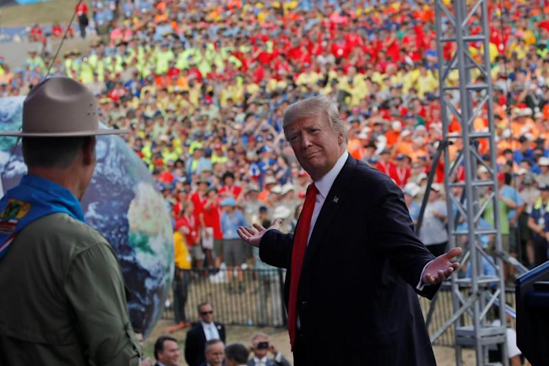 US parents are pulling their children out of Boy Scouts over Donald Trump's 'drunk stepdad' speech