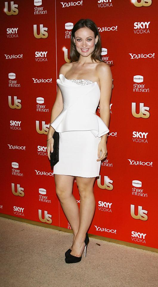 """TV Siren of the Year,"" Olivia Wilde, struck a pose in a Marchesa Bridal frock. Michael Tran/<a href=""http://filmmagic.com/"" target=""new"">FilmMagic.com</a> - November 19, 2009"