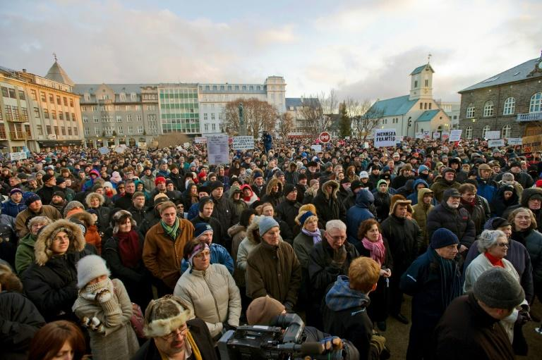 Thousands protested in Iceland in 2008 over the huge impact of the financial crisis on their small island nation