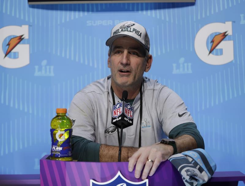 Philadelphia Eagles offensive coordinator Frank Reich will be the Colts' next head coach. (AP)