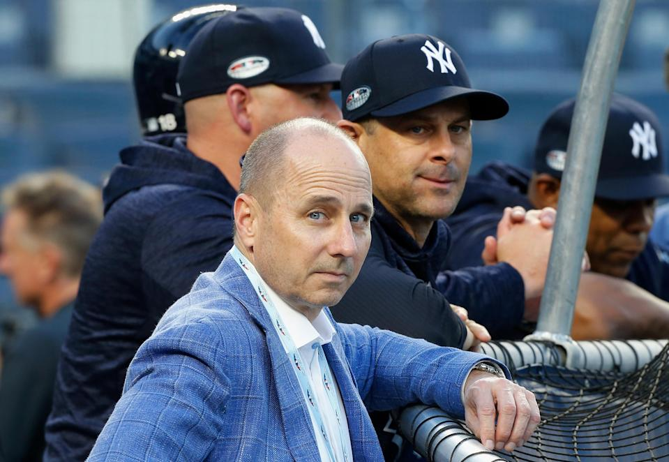 Yankees general manager Brian Cashman isn't going to let the Red Sox gloat without a fight. (Getty)