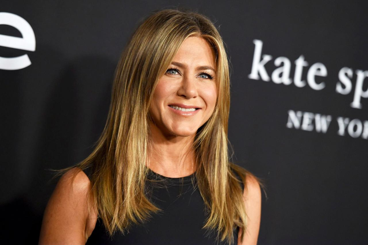 """Aniston turned 50 on Feb. 11, celebrating the occasion with a <a href=""""https://people.com/movies/kate-hudson-gwyneth-paltrow-jennifer-aniston-birthday-party-pictures/"""">star-studded party</a> at the Sunset Tower Hotel in Los Angeles on Feb. 9.  Stars in attendance included Kate Hudson, Gwyneth Paltrow, Katy Perry,<a href=""""https://people.com/tag/courteney-cox/"""">Courteney Cox</a>, <a href=""""https://people.com/tag/george-clooney/"""">George and Amal Clooney</a>,<a href=""""https://people.com/tag/reese-witherspoon/"""">Reese Witherspoon</a>,<a href=""""https://people.com/tag/robert-downey-jr/"""">Robert Downey Jr.</a>,<a href=""""https://people.com/tag/ellen-degeneres/"""">Ellen DeGeneres</a>,<a href=""""https://people.com/tag/barbara-streisand/"""">Barbra Streisand,</a><a href=""""https://people.com/tag/keith-richards/"""">Keith Richards</a>, <a href=""""https://people.com/tag/laura-dern/"""">Laura Dern</a>,<a href=""""https://people.com/tag/demi-moore/"""">Demi Moore</a>and<a href=""""https://people.com/tag/lisa-kudrow/"""">Lisa Kudrow</a>— as well as <a href=""""https://people.com/movies/jennifer-aniston-very-happy-brad-pitt-attended-birthday-party/"""">Aniston's ex-husbandBrad Pitt</a>.  A source told PEOPLE at the time, """"Basically, every single person who Jen loves attended. That included Brad,"""" adding, """"the party was a celebration of Jen's life."""""""