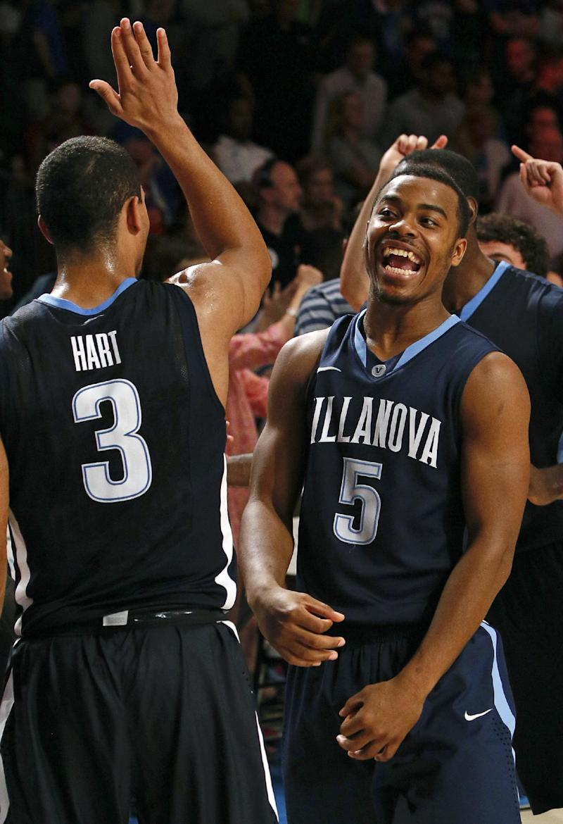 Villanova stuns No. 2 Kansas, 63-59