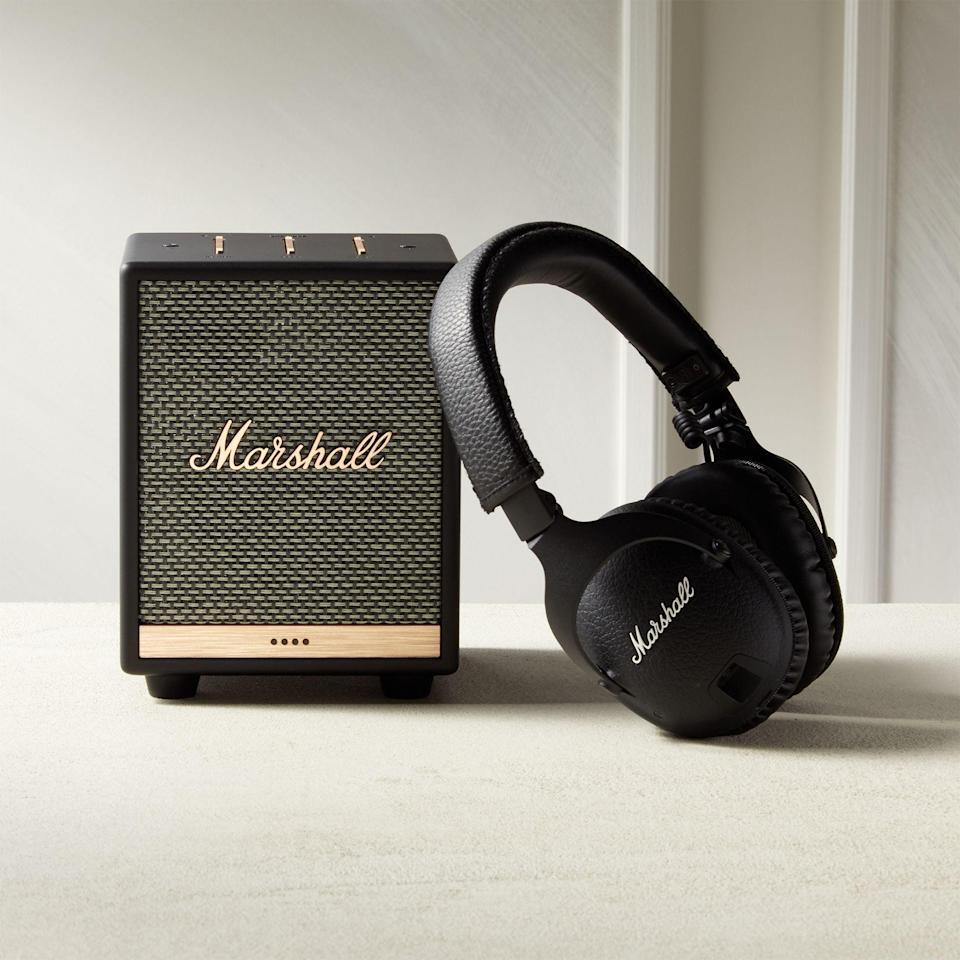 "<br><br><strong>Marshall</strong> Monitor II ANC Headphones, $, available at <a href=""https://go.skimresources.com/?id=30283X879131&url=https%3A%2F%2Fwww.cb2.com%2Fmarshall-monitor-ii-anc-headphones%2Fs665682"" rel=""nofollow noopener"" target=""_blank"" data-ylk=""slk:CB2"" class=""link rapid-noclick-resp"">CB2</a>"