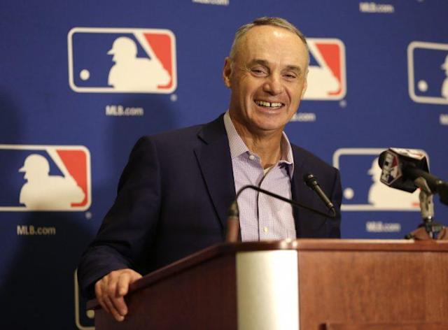 Rob Manfred thinks Las Vegas is an attractive place for a baseball team. (AP)
