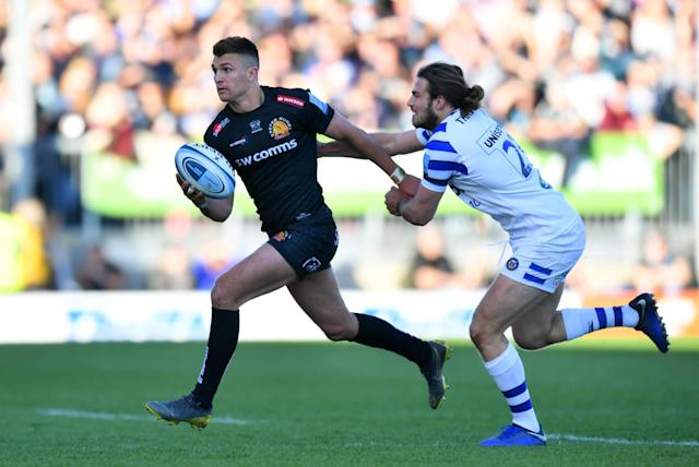 Henry Slade in action for Exeter Chiefs against Bath (Getty)
