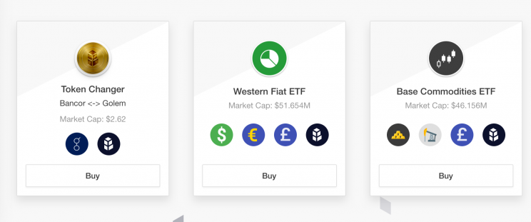 A promo screen from Bancor Network's web site touting the possibilities of its protocol