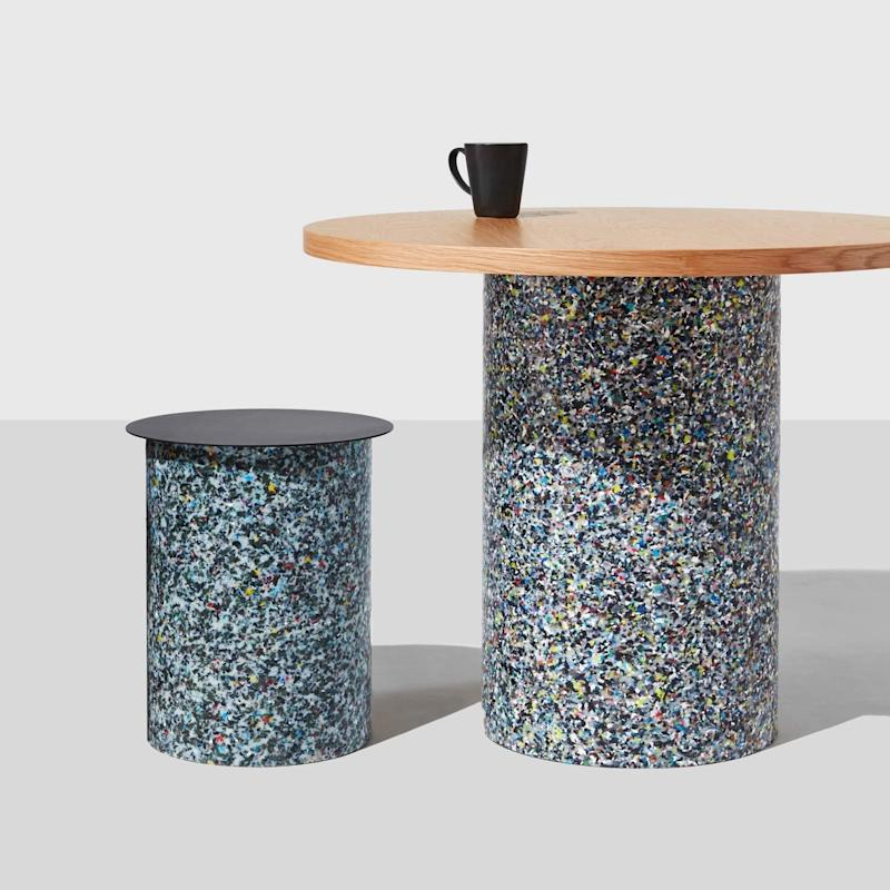 Because the base is made of recycled plastic, each table is one of a kind. SHOP NOW: Confetti Round Table by Nicholas Karlovasitis and Sarah Gibson, from $990, designbythem.com