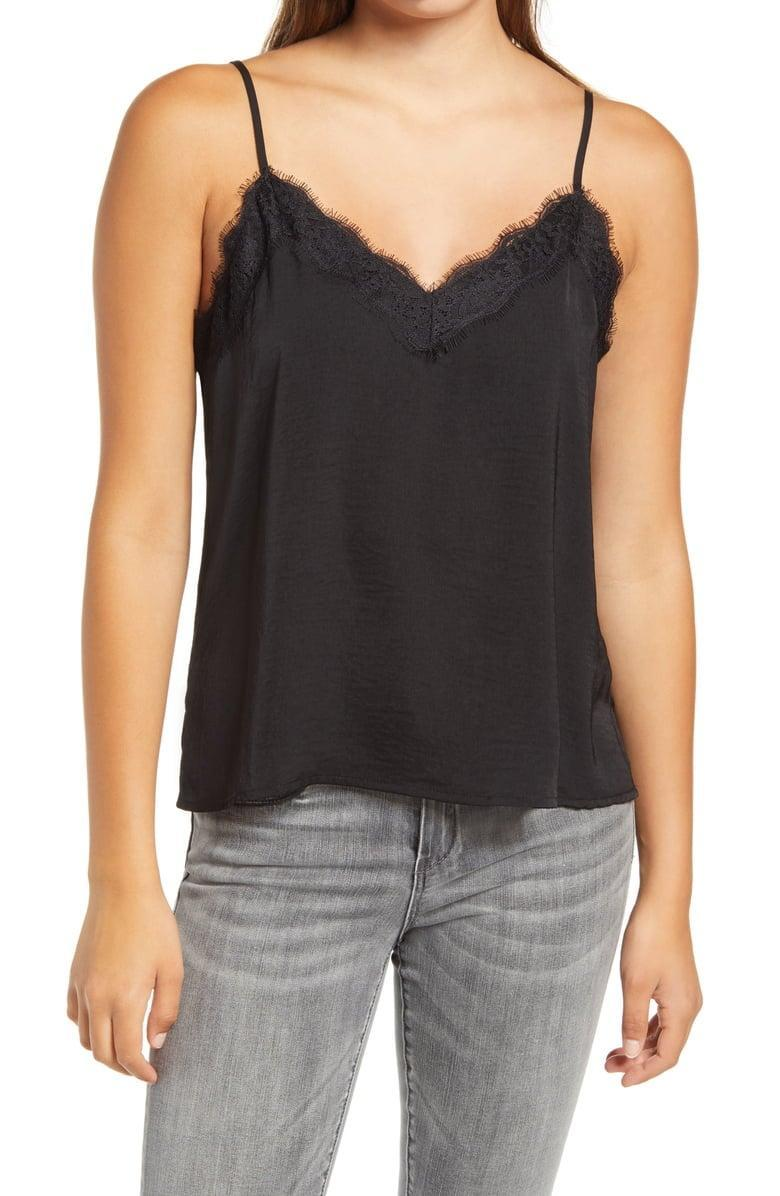 <p>Wear this <span>BP. Lace Trim Satin Camisole</span> ($16, originally $39) with your favorite pair of jeans.</p>