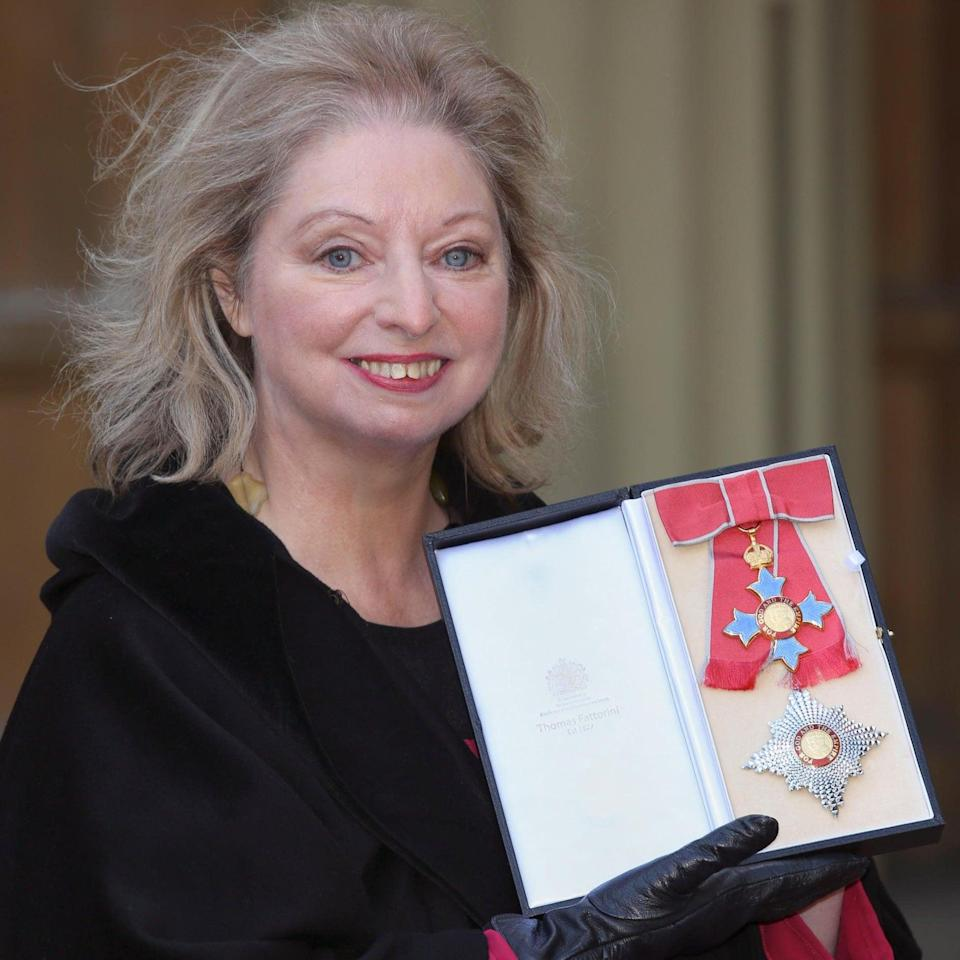 With her Dame Commander of the British Empire medal - Getty Images