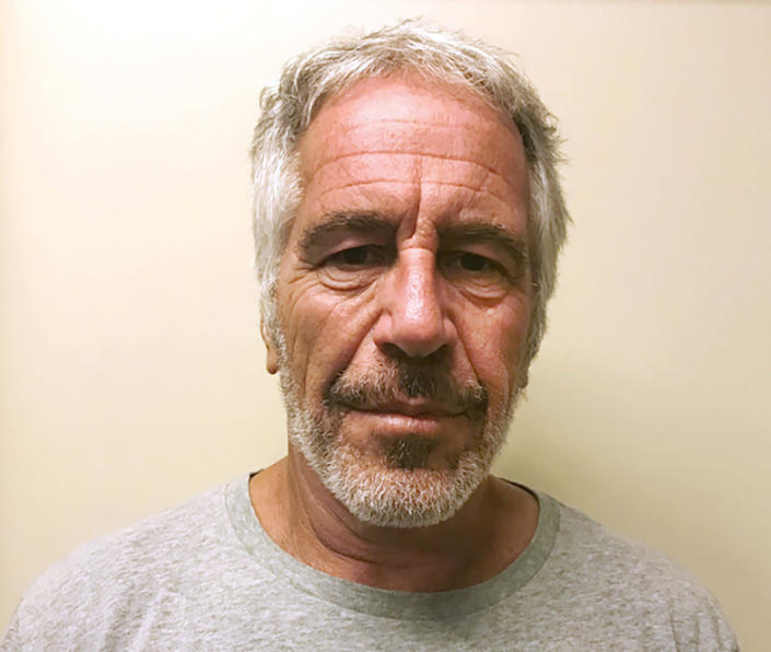 This March 28, 2017, file photo, provided by the New York State Sex Offender Registry shows Jeffrey Epstein. Up to 30 women were expected to take a judge up on his invitation to speak at a hearing, Tuesday, Aug. 27, 2019, after financier Epstein killed himself rather than face sex trafficking charges.   AP