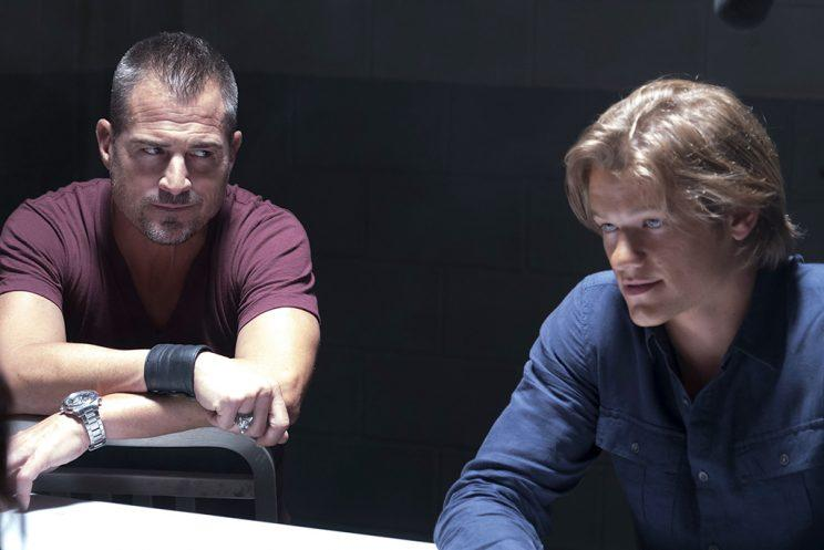 George Eads and Lucas Till in 'MacGyver' (Credit: Annette Brown/CBS)