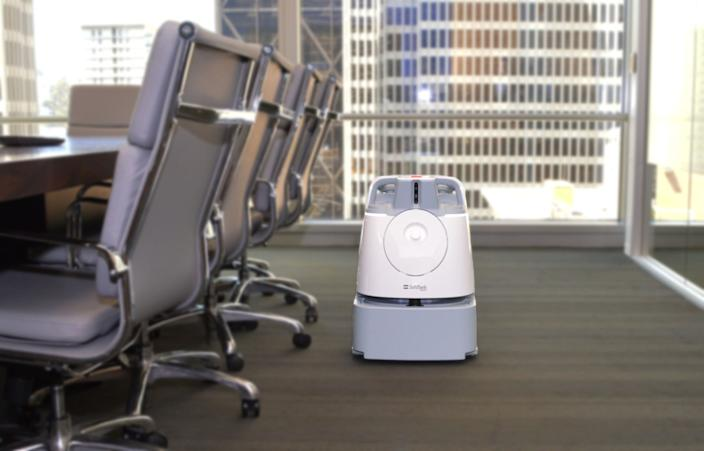 "The Whiz is an automated vacuum for use in hotels and office buildings. <span class=""copyright"">(Softbank Robotics Group Corp.)</span>"