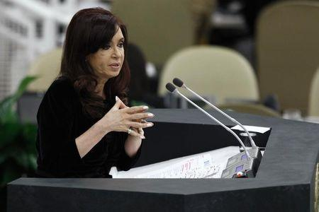 Argentina's President Cristina Fernandez de Kirchner addresses the 68th United Nations General Assembly at U.N. headquarters in New York