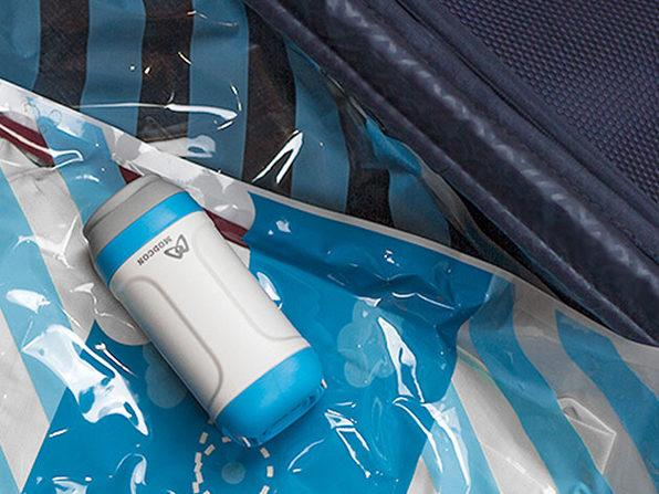 Compress your clothes by 70 percent and make more space in that carry-on thanks to this brilliant kit. (Photo: Stack Commerce)