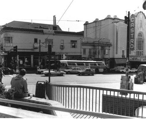 In this photo from 1982, Double Rainbow can be seen behind the Muni coach.