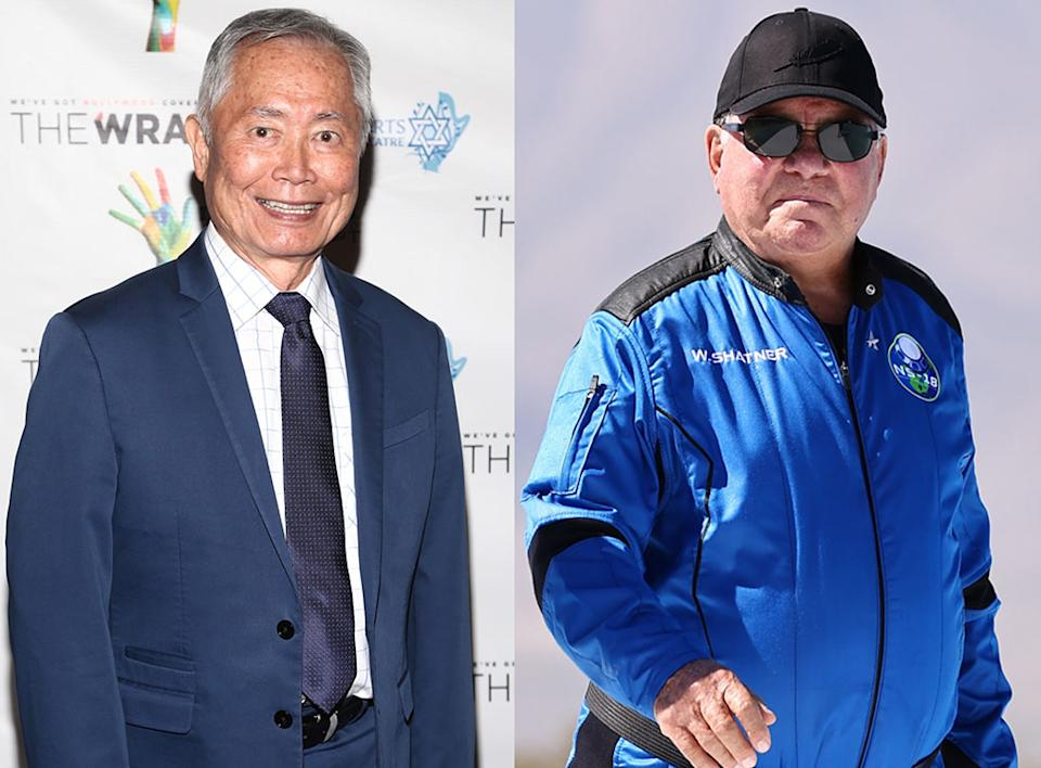 Star Trek's George Takei takes a jab at William Shatner's trip to space.
