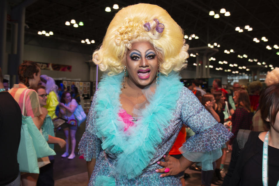 NEW YORK, NEW YORK - SEPTEMBER 06: Vinegar Strokes of 'RuPaul's Drag Race UK' attends RuPaul's DragCon 2019 at The Jacob K. Javits Convention Center on September 06, 2019 in New York City. (Photo by Santiago Felipe/Getty Images)