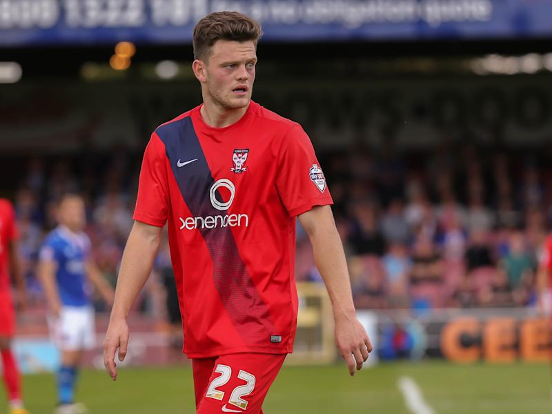 Reece Thompson features for York City in 2015 (Rex)
