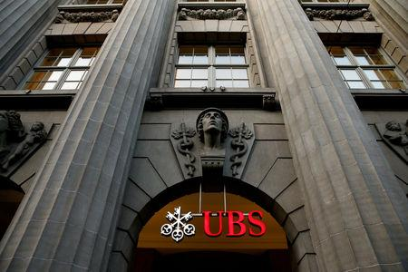 FILE PHOTO: Logo of Swiss bank UBS at the company's headquarters in Zurich