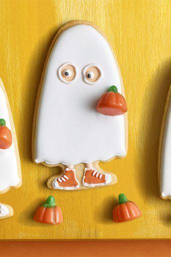 """<p>You can customize your sugar cookies with different colors and shoe designs.</p><p><strong><em><a href=""""https://www.womansday.com/food-recipes/food-drinks/a23301516/trick-or-treater-sugar-cookies/"""" rel=""""nofollow noopener"""" target=""""_blank"""" data-ylk=""""slk:Get the Trick-or-Treater Sugar Cookies recipe."""" class=""""link rapid-noclick-resp"""">Get the Trick-or-Treater Sugar Cookies recipe. </a></em></strong> </p>"""
