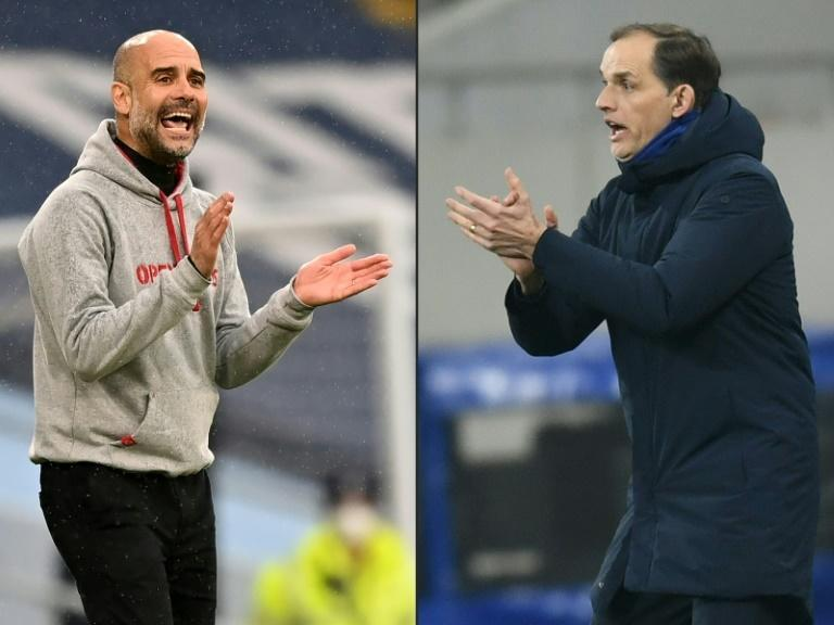 Chelsea manager Thomas Tuchel (right)has hailed Manchester City boss Pep Guardiola (left)as one of his coaching inspirations