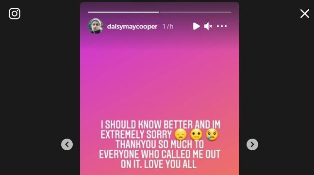 Daisy May Cooper apologised for using the derogatory term. (Instagram)