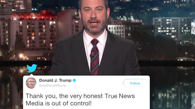 Jimmy Kimmel conducted an amusing experiment with Donald Trump's tweets on Wednesday night.