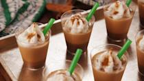 """<p>Basic or not, these PSL Jell-O shots are freaking adorable.</p><p>Get the recipe from <a href=""""https://www.delish.com/cooking/recipe-ideas/recipes/a54717/pumpkin-spice-jell-o-shots-recipe/"""" rel=""""nofollow noopener"""" target=""""_blank"""" data-ylk=""""slk:Delish"""" class=""""link rapid-noclick-resp"""">Delish</a>.</p>"""