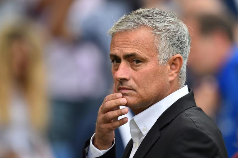 Difficult day: Jose Mourinho's fears at not being backed in the transfer market were realised at Brighton