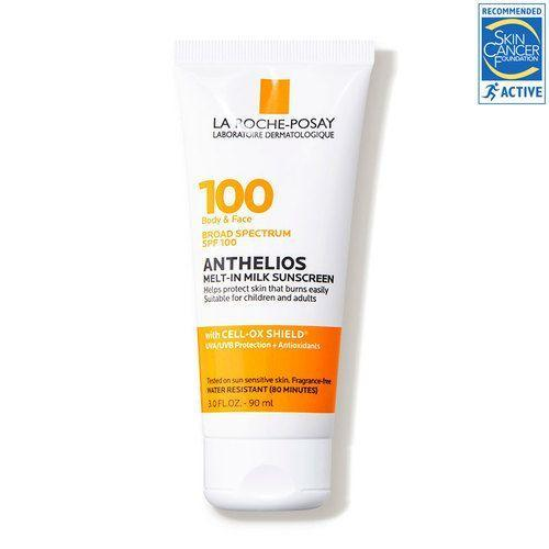 """<p><strong>La Roche-Posay</strong></p><p>dermstore.com</p><p><strong>$24.99</strong></p><p><a href=""""https://go.redirectingat.com?id=74968X1596630&url=https%3A%2F%2Fwww.dermstore.com%2Fproduct_Anthelios%2BMeltin%2BMilk%2BBody%2B%2BFace%2BSunscreen%2BLotion%2BBroad%2BSpectrum%2BSPF%2B100_82498.htm&sref=https%3A%2F%2Fwww.goodhousekeeping.com%2Fbeauty%2Fanti-aging%2Fg36098250%2Fbest-sunscreens-for-dark-skin%2F"""" rel=""""nofollow noopener"""" target=""""_blank"""" data-ylk=""""slk:Shop Now"""" class=""""link rapid-noclick-resp"""">Shop Now</a></p><p>You won't find any white cast with this milky option from La Roche-Posay, a GH Beauty Lab test winner. In Lab testing, this sunscreen for both face and body<strong> ranked the highest among those with darker skin tones for not leaving a white cast on skin </strong>or being oily. Testers loved how lightweight and hydrating this sunscreen felt on skin. """"It did not leave a white cast on my face and absorbed very well into the skin,"""" one tester commented. I forgot that I was wearing a SPF 100 sunscreen."""" </p>"""