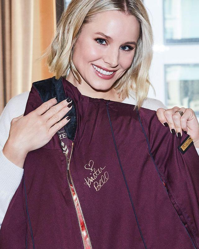 """<p>She told <a href=""""https://hellogiggles.com/news/kristen-bell-beauty-product-cant-live-without/"""" rel=""""nofollow noopener"""" target=""""_blank"""" data-ylk=""""slk:Hello Giggles"""" class=""""link rapid-noclick-resp"""">Hello Giggles</a> she cares for her sensitive skin by avoiding 'harsher things like peels or even at-home exfoliators,' and prefers relying on her Clarisonic for gentle exfoliation.</p><p><a href=""""https://www.instagram.com/p/B42oAIRJ9ke/"""" rel=""""nofollow noopener"""" target=""""_blank"""" data-ylk=""""slk:See the original post on Instagram"""" class=""""link rapid-noclick-resp"""">See the original post on Instagram</a></p>"""