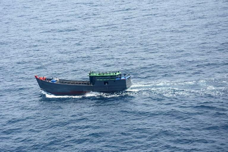 Indian officials seized more than a tonne of the synthetic drug ketamine from a Myanmar boat near the Andaman islands