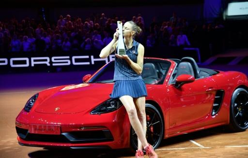 Karolina Pliskova won not only a trophy and a cheque but also a Porsche Boxster car for winning the Stuttgart final