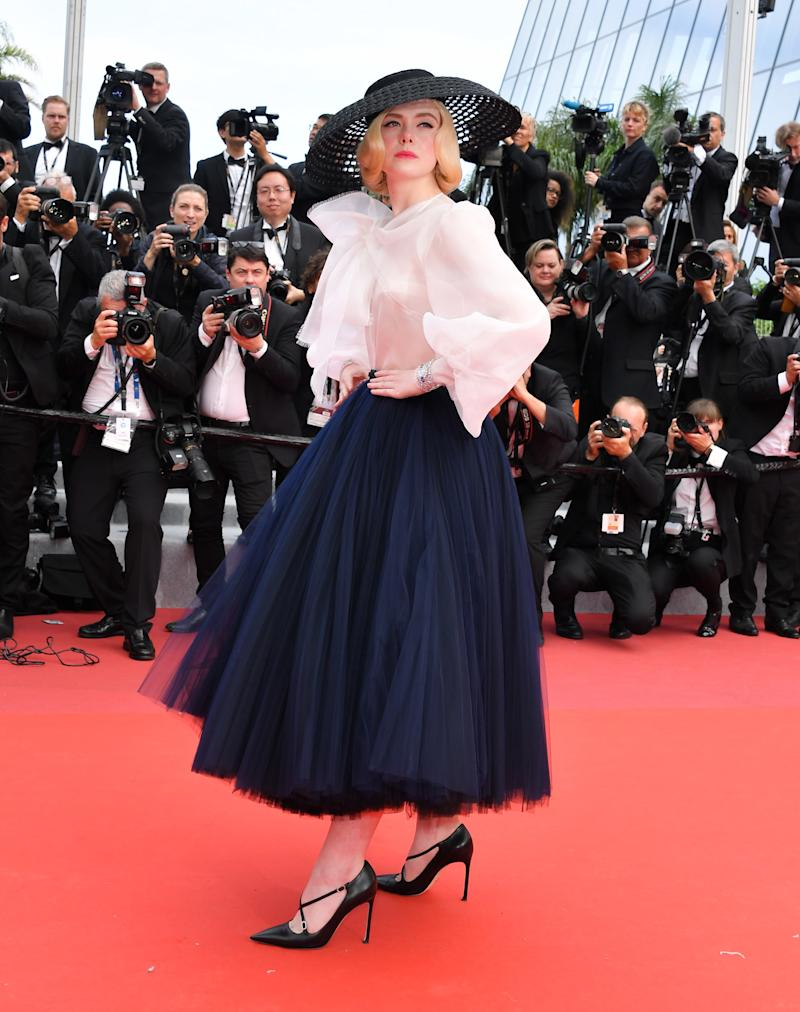 "Elle Fanning at the ""Once Upon A Time In... Hollywood"" Cannes premiere."