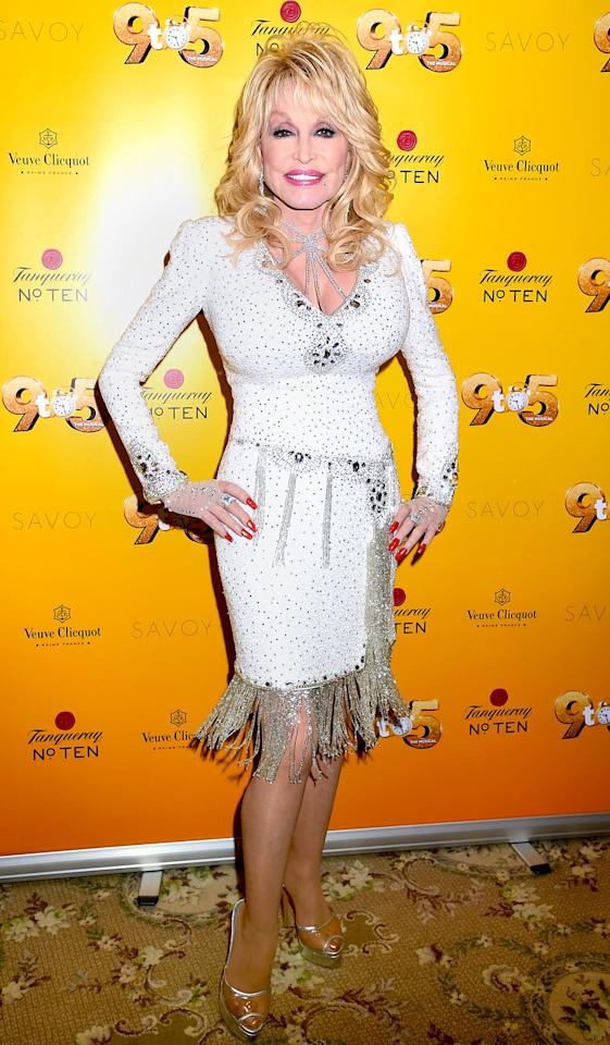 """Next is the country music legend (and one of this year's co-hosts), who earned the title in 1978. Dolly is known not only for her impressive discography, but for being a jack of all trades! She is a talented actress, promotes literacy with her organization, <a href=""""https://imaginationlibrary.com/"""">Imagination Library</a>, has created her very own theme park, Dollywood, and has been an executive producer in film and television. Parton has an upcoming Netflix series called <em>Heartstrings</em> set to premiere on Nov. 22, 2019."""