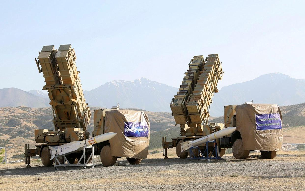 The Khordad 15, a new surface-to-air missile battery shown at an undisclosed location in Iran - AP