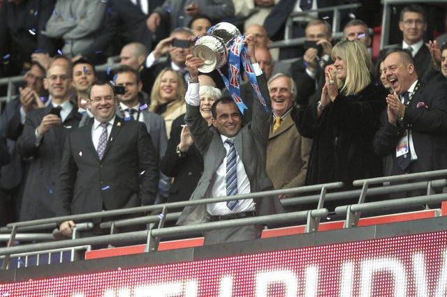 Roberto Martinez led Wigan to FA Cup final victory over Roberto Mancini's Manchester City in 2013
