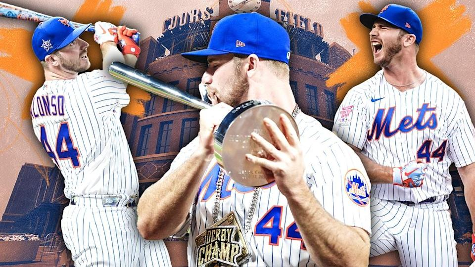 Pete Alonso HR Derby treated art