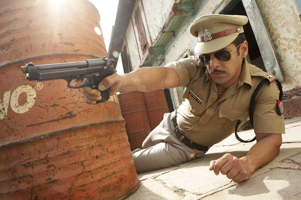 <p>Salman Khan's portrayal of corrupt police officer Chulbul Pandey was welcomed by his fans with great applause. Catchy dialogues, bad-ass attitude and groovy music has resulted in two more Dabangg films. </p>