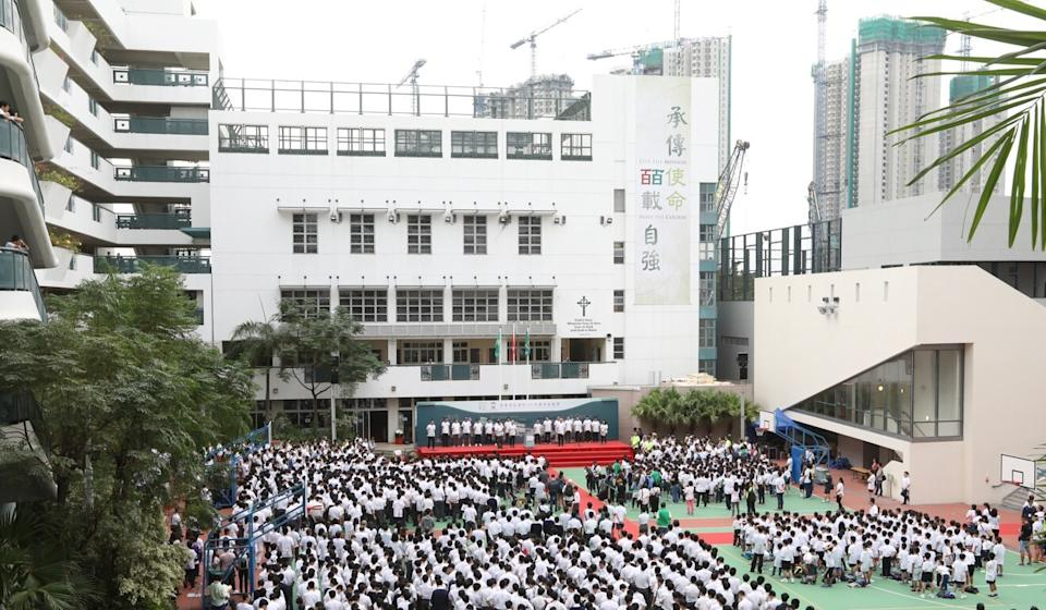 Ying Wa College has also confirmed it is freezing tuition fees for the 2020-21 school year. Photo: Edward Wong