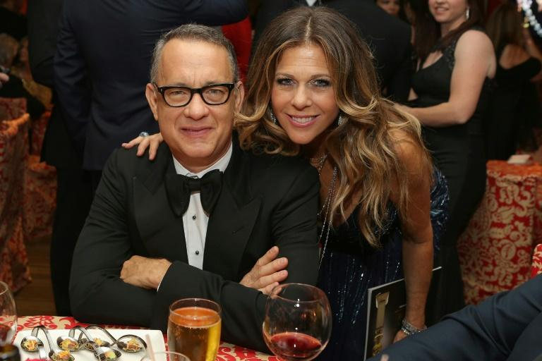 Tom Hanks and Rita Wilson, pictured in 2014, are among a number of Hollywood stars to have contracted Covid-19