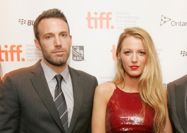 Ben Affleck and Blake Lively at Warner Bros. premiere of 'The Town' at the 2010 Toronto International Film Festival at Roy Thomson Hall on September 11, 2010  -- Getty Premium
